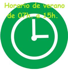 ¡¡HORARIO DE VERANO!!