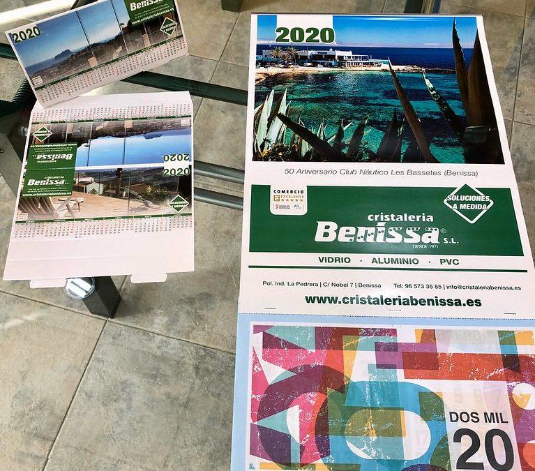 ¡¡Ya tenemos en Cristaleria Benissa los calendarios para 2020!!